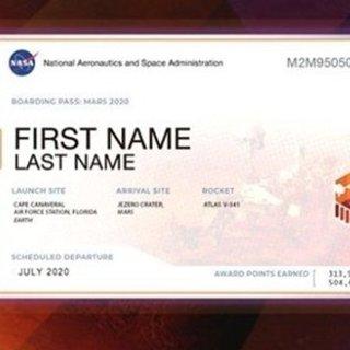 NASA Mars bileti 2020 hızlı bir şekilde alın! NASA Mars bileti isim yazdırma sayfası nasıl ve nereden görüntülenir?