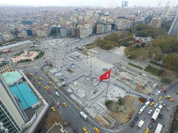 Taksim Meydanı'nı düzenleme çalışmalarında sona yaklaşıldı