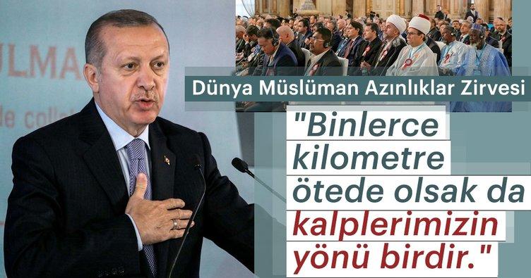 Cumhurbaşkanı Erdoğan'dan birlik mesajları