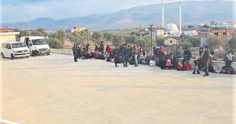 Ayvalık'ta 36 kaçak göçmen yakalandı