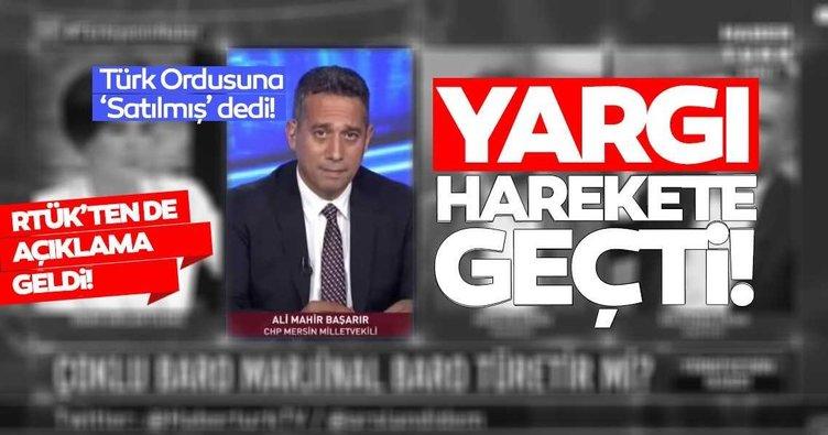 SON DAKİKA... RTÜK ve Savcılık, CHP'li Ali Mahir Başarır'ın skandal sözleri nedeniyle soruşturma başlattı!