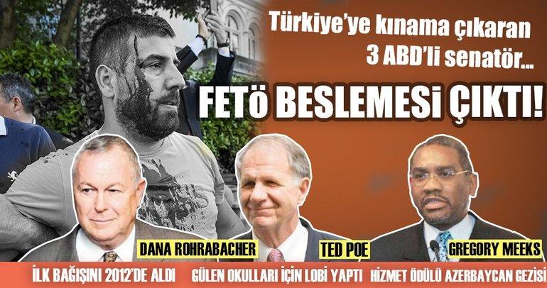 Türkiye'ye kınama çıkaran ABD'li 3 senatör FETÖ'nün beslemesi çıktı!