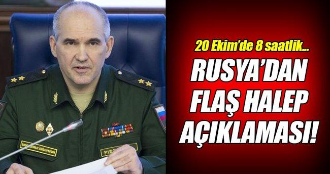 Rusya'dan flaş Halep açıklaması!