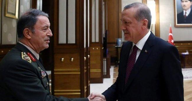 Cumhurbaşkanı Erdoğan, Genelkurmay Başkanı Akar ile görüşüyor