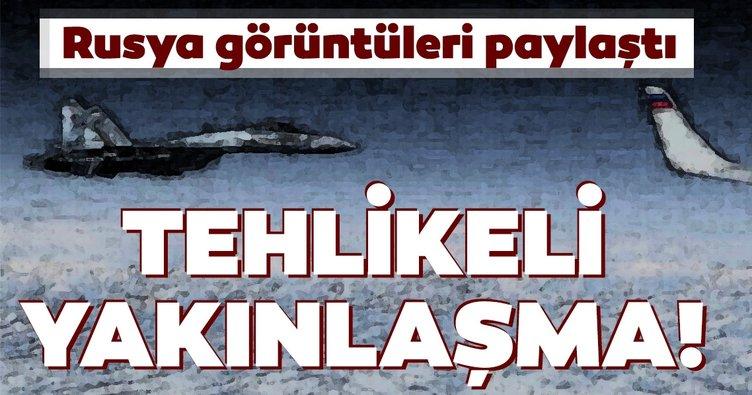 Baltık Denizi'nde tehlikeli yakınlaşma! ABD Bombardıman uçağı ve Rsu jetleri...