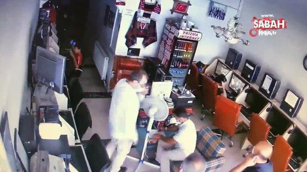 Hırsız önce güvenlik kamerasına sonra polise yakalandı | Video
