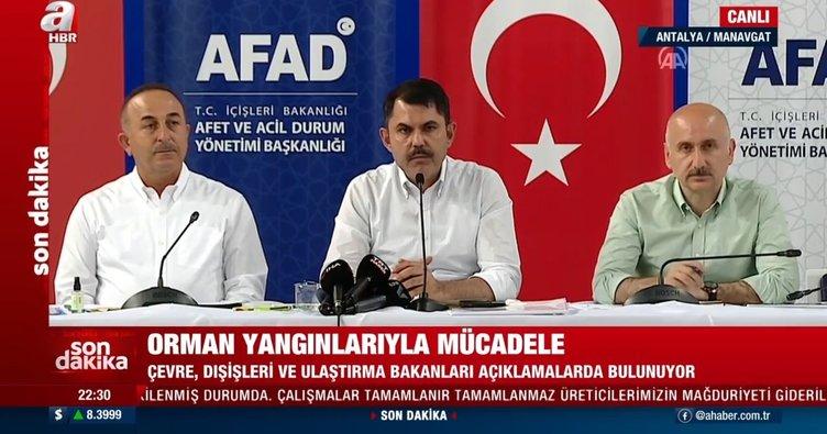 SON DAKİKA | 3 bakandan yangın bölgesinde önemli açıklamalar! Antalya'ya 47,5 milyon TL ödenek ayrıldı