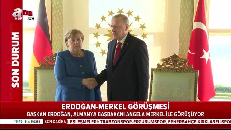 Cumhurbaşkanı Erdoğan ile Angela Merkel görüşmesi başladı
