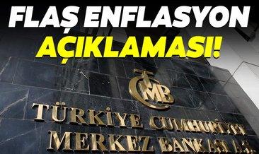 Merkez Bankasından flaş enflasyon açıklaması!