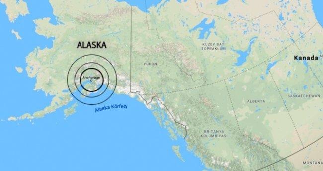 Alaska'da 5,8 büyüklüğünde deprem meydana geldi