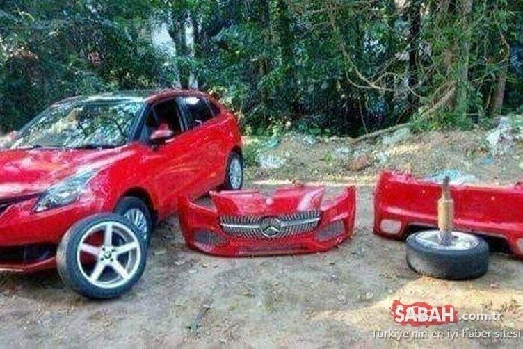 Mercedes diye satın aldı ama işin gerçeği şoke etti! Polisler bile şaşkına döndü