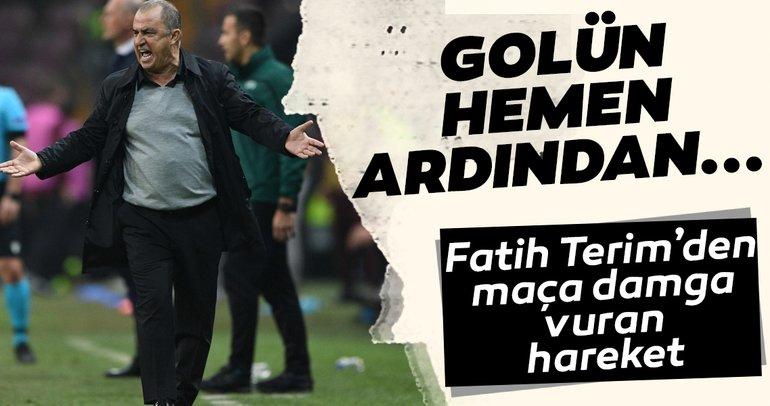 Galatasaray - Club Brugge maçına Fatih Terim'in o hareketi damga vurdu