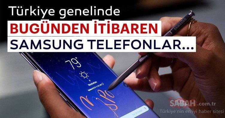 Türkiye genelinde bugünden itibaren Samsung telefonlar...