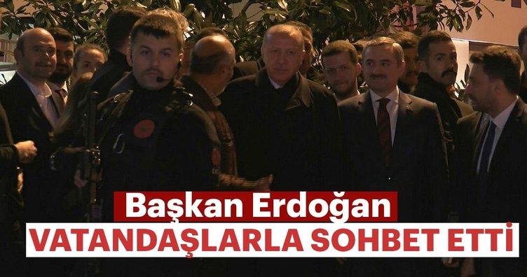 Başkan Erdoğan, vatandaşlarla sohbet etti