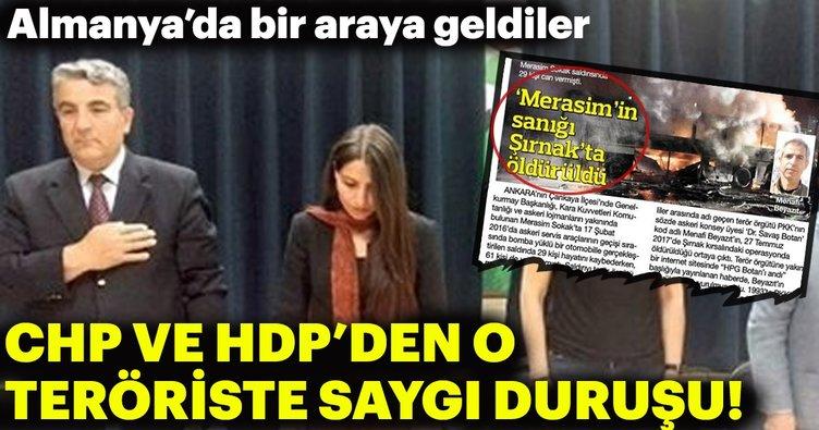 CHP ve HDP'den teröristlere saygı duruşu