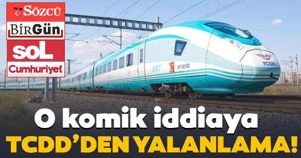 TCDD'den 'Yüksek Hızlı Tren' yalanına cevap!