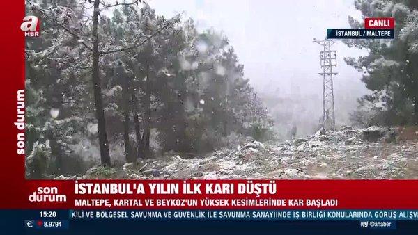 Son dakika: İstanbul'da lapa lapa kar yağışı! İstanbul'da kar yağışı ne kadar sürecek? | Video
