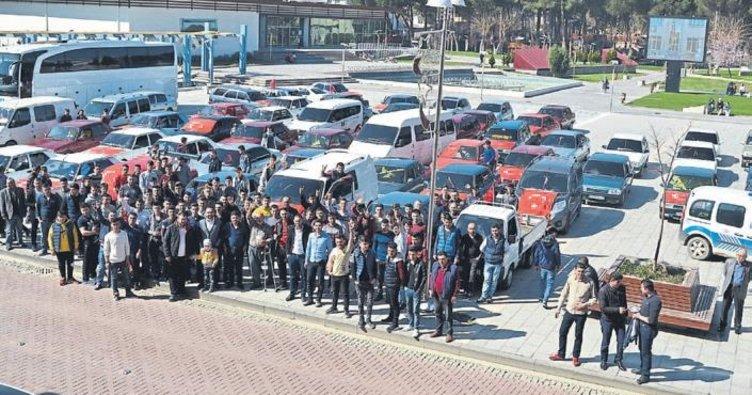 Mehmetçik için konvoy