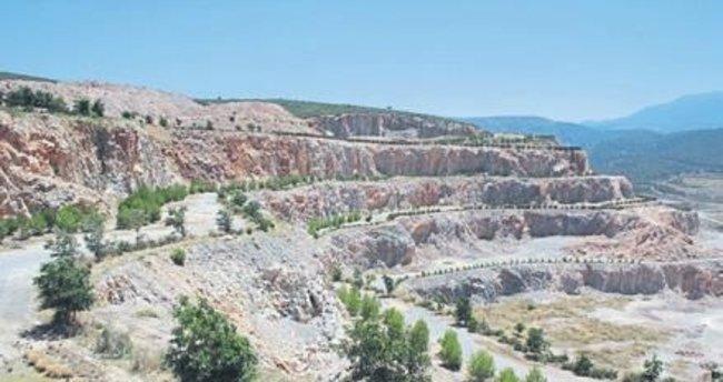 Maden sahaları rehabilite ediliyor