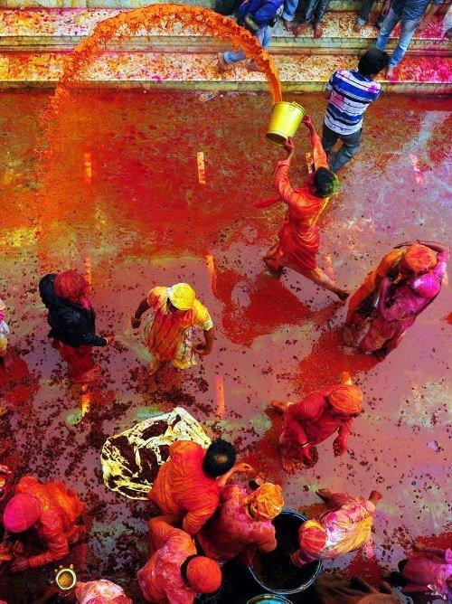 Dünyanın en renkli festivali; Holi