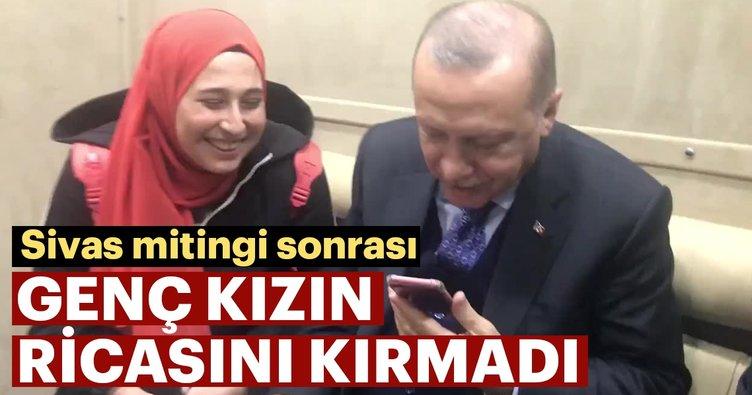 Başkan Erdoğan, yanına gelen genç kızı kırmadı