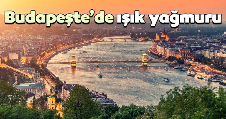 Budapeşte'de ışık yağmuru