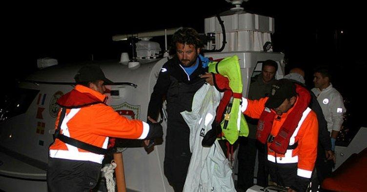 Göcek'te batan yattaki 4 kişi son anda kurtarıldı