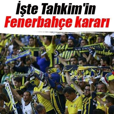 İşte Tahkim'in Fenerbahçe kararı