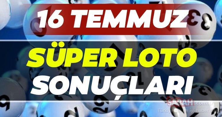 Süper Loto sonuçları belli oldu!  Milli Piyango 16 Temmuz Süper Loto çekiliş sonuçları MPİ ile hızlı bilet sorgulama BURADA