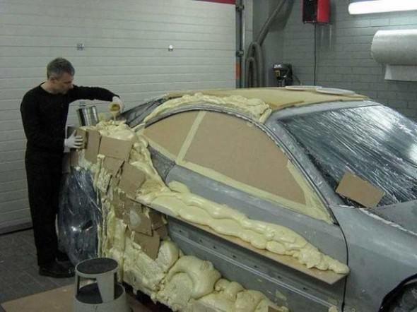 Hurda otomobilini öyle bir hale getirdi ki...