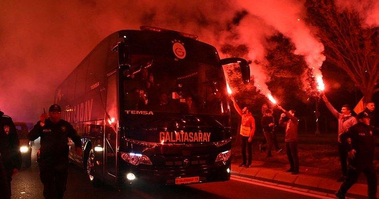 Galatasaray'a Kayseri'de coşkulu karşılama