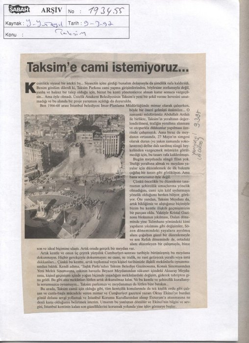 Yapımına karşı çıkmışlardı: Büyük gün geldi! İşte Taksim Camii manşetleri