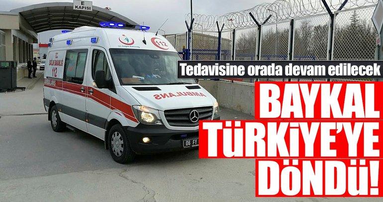 Son dakika: 3.5 aydır Almanya'da tedavi gören Deniz Baykal Türkiye'ye döndü