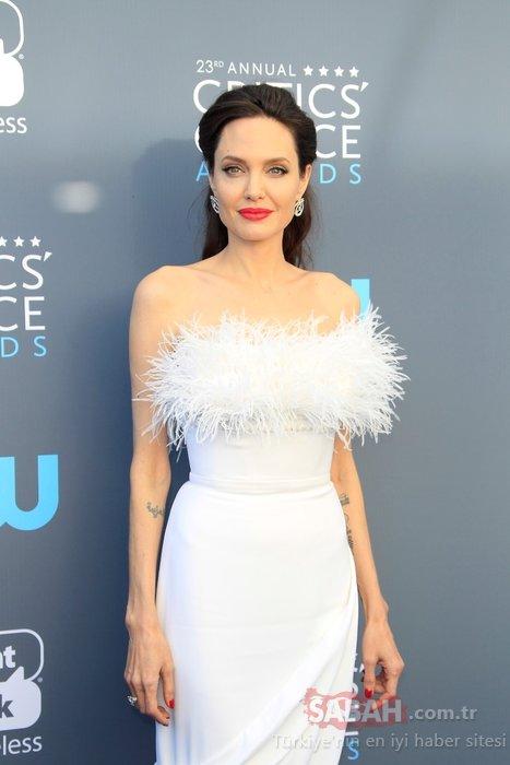 Angelina Jolie'nin hafızalara kazınan kırmızı halı stilleri