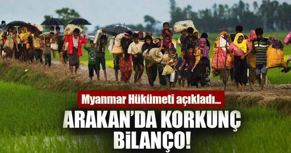 Son dakika: Arakan'da korkun&ç bilan&ço! Myanmar h&ük&ümeti a&çıkladı...