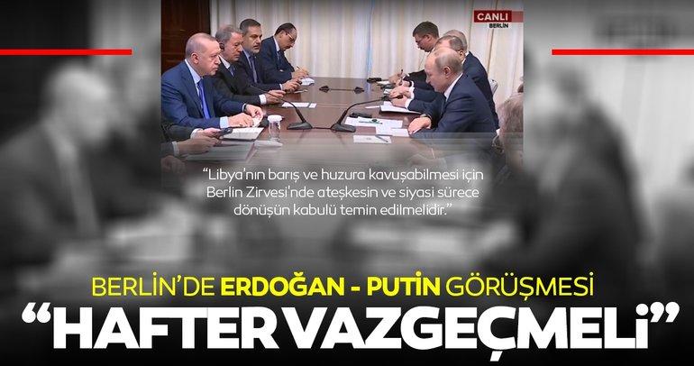 Başkan Erdoğan'dan açıklama: Siyasi çözüm için Hafter'in saldırgan tutumundan vazgeçmesi gerekir
