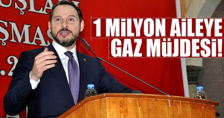 1 milyon aileye gaz müjdesi