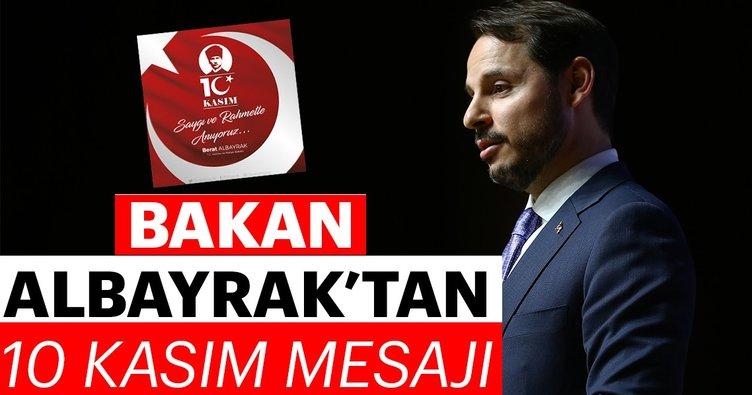 Bakan Albayrak'tan 10 Kasım mesajı