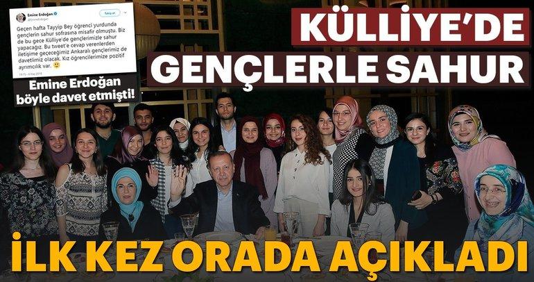 Cumhurbaşkanı Erdoğan Külliye'de gençlerle sahur yaptı