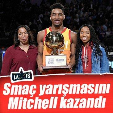 NBA smaç yarışmasını Mitchell kazandı