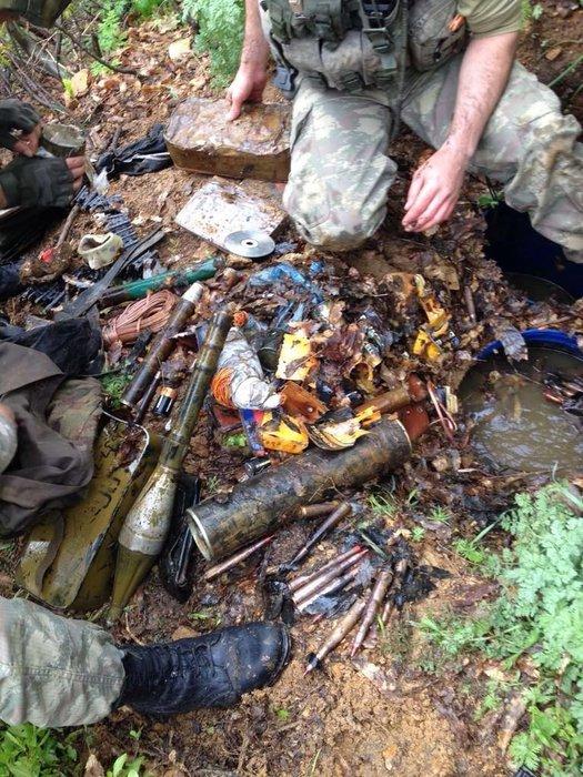 Şırnak'a gönderilen havan mermileri ele geçirildi
