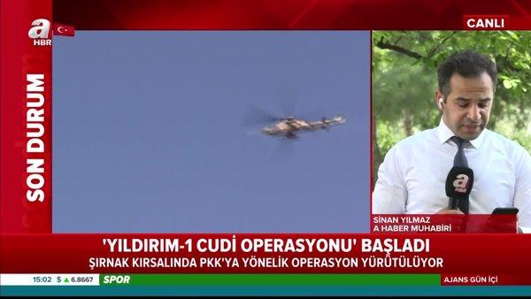 Son dakika: Yıldırım-1 Cudi operasyonu başladı! Şırnak kırsalında PKK'ya yönelik operasyon yürütülüyor | Video