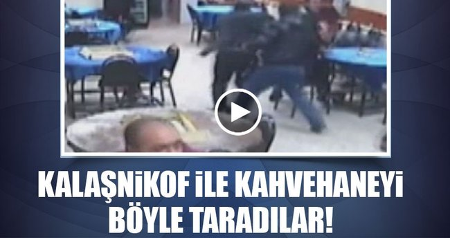 Sultanbeyli'de kahvehaneye düzenlenen silahlı saldırının görüntüleri ortaya çıktı