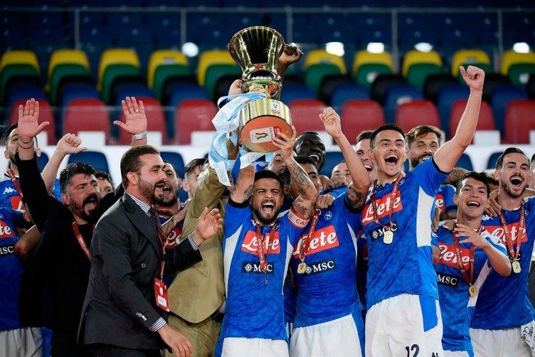 İtalya Kupası Napoli'nin! İşte Kupa töreninden kareler...