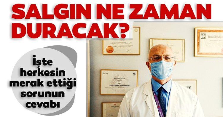 Bilim Kurulu Üyesi Prof. Dr. Serhat Ünal salgının ne zaman duracağını açıkladı