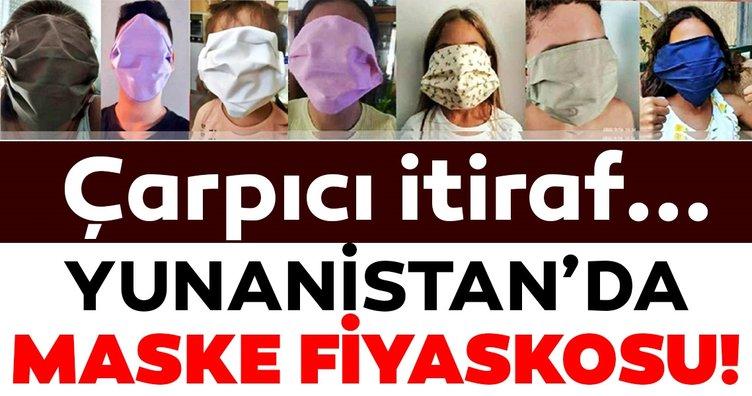 Yunanistan'da maske fiyaskosu! Öğrencilere dağıtılan maskeler ile ilgili çarpıcı itiraf...