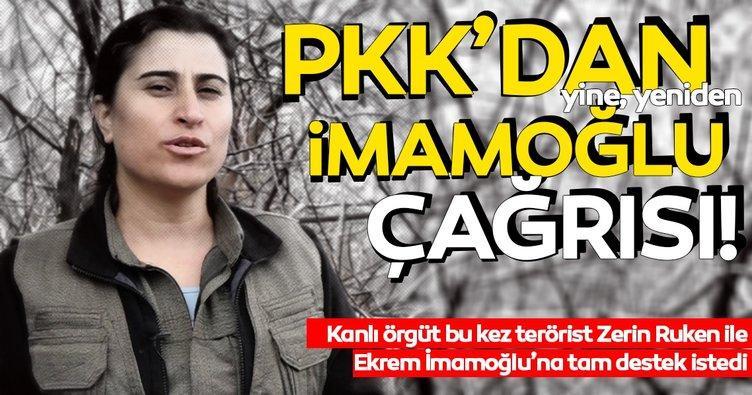 Terör örgütü PKK Ekrem İmamoğlu için yeni video çekti! Tüm kesimlerden İmamoğlu'na destek istedi