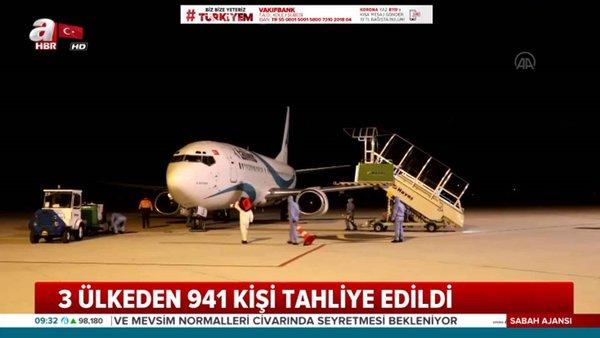 3 ülkeden 941 kişi tahliye edildi