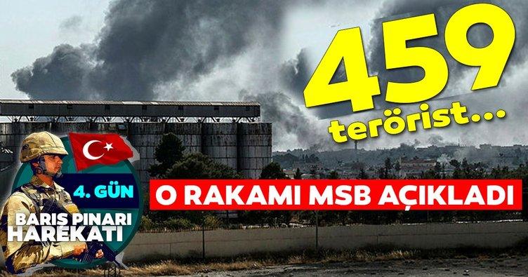 MSB: Öldürülen terörist sayısı 459 oldu