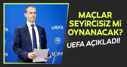 SON DAKİKA | UEFA Başkanı Ceferin'den liglerin geleceği hakkında açıklama